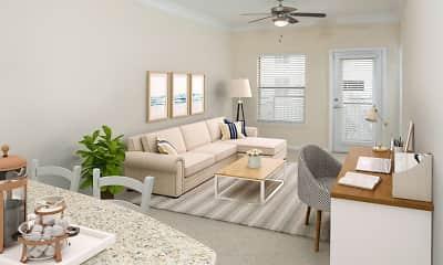 Living Room, Camden Orange Court, 1