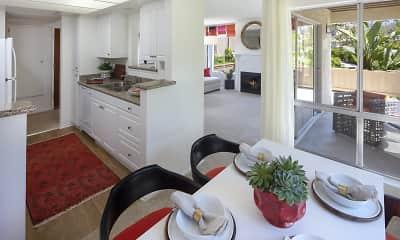 Kitchen, Rancho San Joaquin, 1