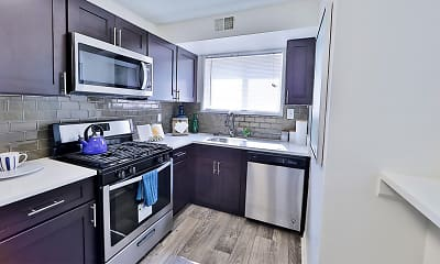 Kitchen, Lynbrook at Mark Center, 1