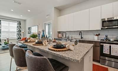 Kitchen, Mirrorton Apartments, 1