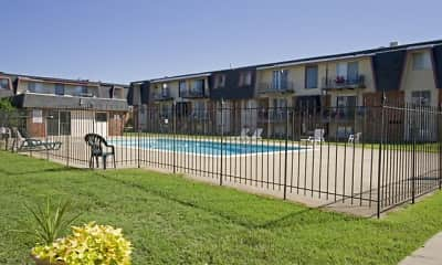 Pool, Rosewood Village Apartments, 1