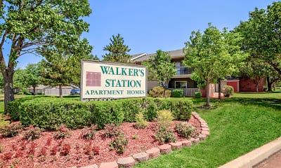 Community Signage, Walkers Station, 1