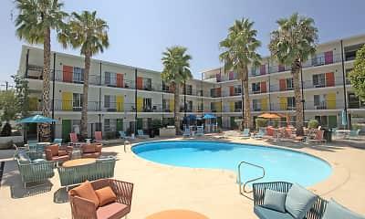 Pool, Sahuara Apartments, 0