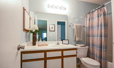 Bathroom, Idlewood Apartments, 2