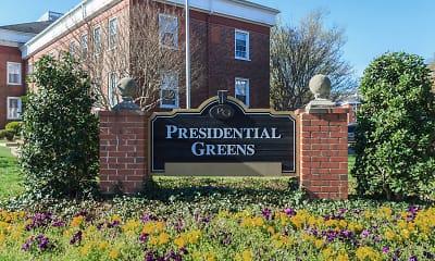 Community Signage, Presidential Greens, 1
