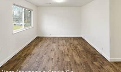 Living Room, Metro Apartments at Granite City, 1