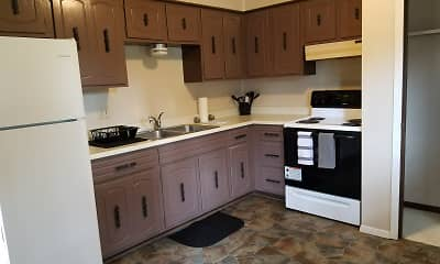 Kitchen, Evergreen Apartments, 0