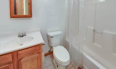 Bathroom, River Island Apartments, 2