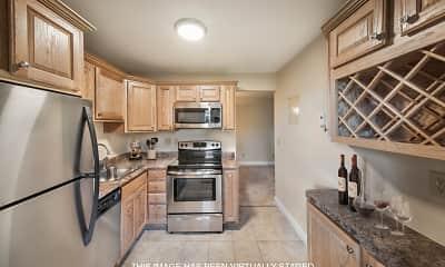 Kitchen, Rivercrest Apartments, 1