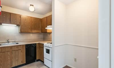 Kitchen, Apple Court Apartments, 2