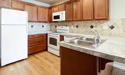 Kitchen, Colonial Apartments, 0