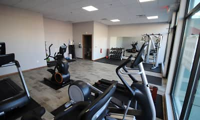 Fitness Weight Room, Mequon Town Center Apartments, 0