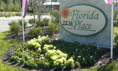 Community Signage, Florida Place Apartments, 0