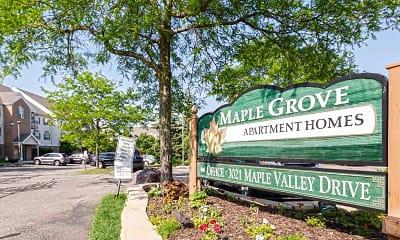 Community Signage, Maple Grove Apartments, 0
