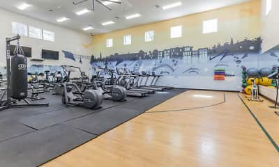 Fitness Weight Room, Vista Point Apartment Homes, 1