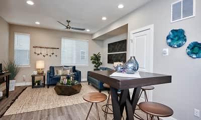 Living Room, Creekline Townhomes, 2