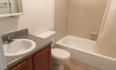 Bathroom, Pineview Apartments, 2