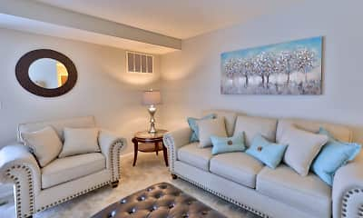 Living Room, The Village at Chartleytowne Apartments & Townhomes, 1
