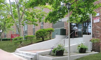 Courtyard, Ledgecrest Apartments, 0