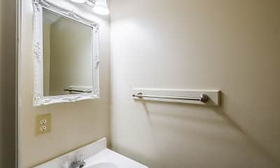 Bathroom, Park View Apartments, 2
