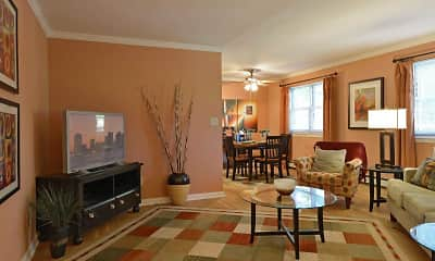Living Room, Wingate Apartments, 1