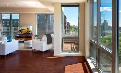 Living Room, Flux Apartments, 1