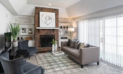 Living Room, Kansas City Georgetown Apartments, 1