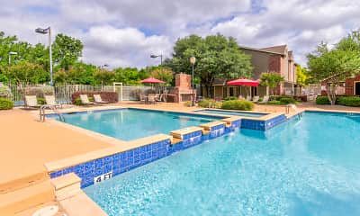 Pool, Highland Park Apartments, 2