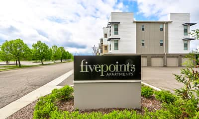 Community Signage, Five Points Apartments, 2