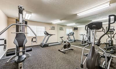 Fitness Weight Room, The Ritz Apartments, 2