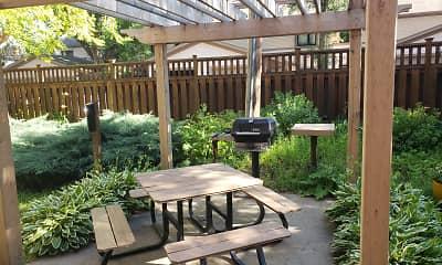 Patio / Deck, Dayton Villas Apartments, 2