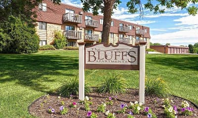 Community Signage, The Bluffs Apartments, 0