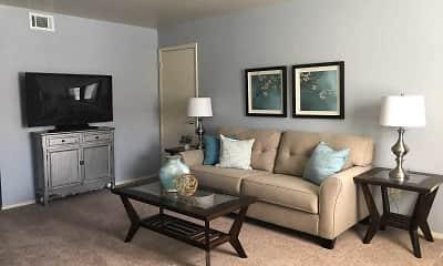 Living Room, Shell Garden Apartments, 1