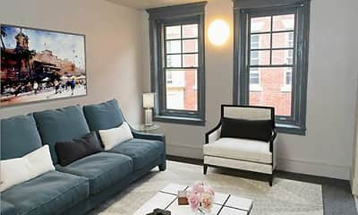 Living Room, Vernon House Senior Apartments, 1