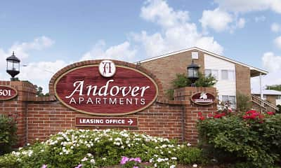 Community Signage, Andover Apartments, 0