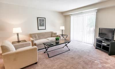 Living Room, Briarcliff Apartments, 1