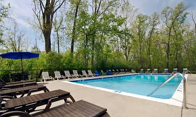 Pool, Foote Hills Apartments, 0