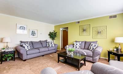 Living Room, Cambridge Square Apartments, 1