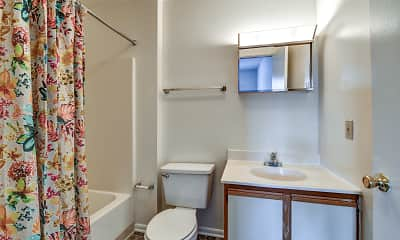Bathroom, High Pointe Club Apartments, 2