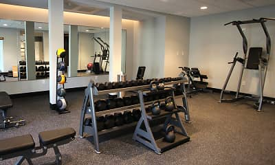 Fitness Weight Room, The Railyard at Midtown, 2