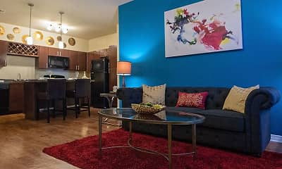 Living Room, Retreat at Fremaux Town Center, 0