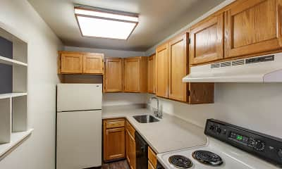Kitchen, Greentree & Park Hill Apartments, 1