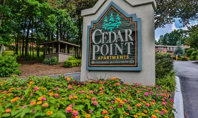 Community Signage, Cedar Point Apartments, 1