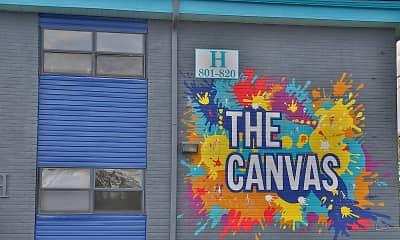 Community Signage, The Canvas Apartments, 2