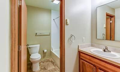 Bathroom, Pleasantville Commons Apartments, 2
