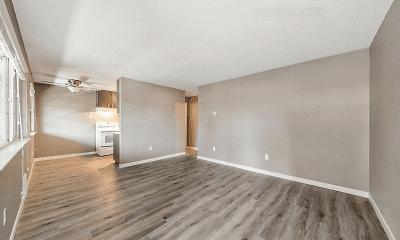Living Room, Hudson Court, 1