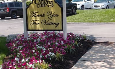 Community Signage, Country Club Place, 2