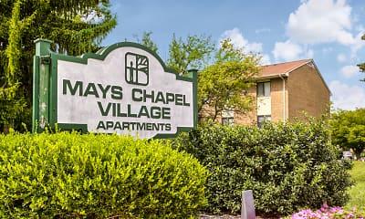 Community Signage, Mays Chapel Village, 2