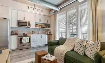 Living Room, Sorrento Apartments, 1