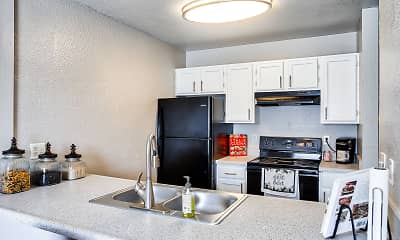 Kitchen, Island Club Apartments, 0